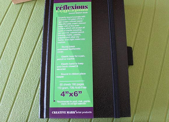 "4"" x 6"" Hard Bound Sketchbook and Ebony Pencil Set"