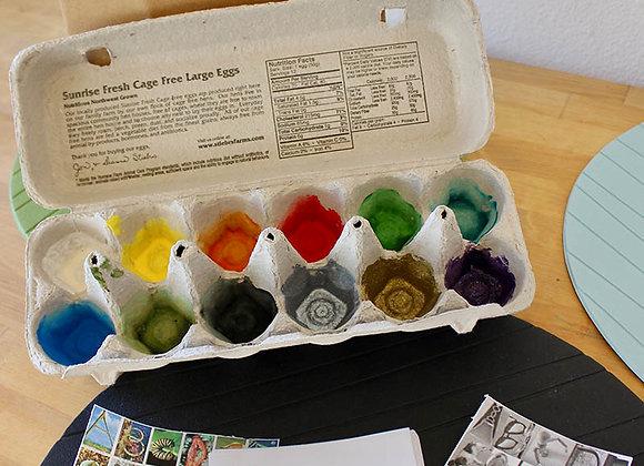 Egg Carton Treasure Box & Alphabet Nature Book