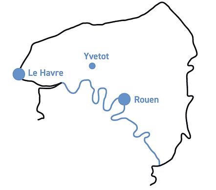 Yvetot, Rouen, Le Havre
