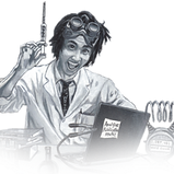 a mad scientist injects whimsy onto your screen