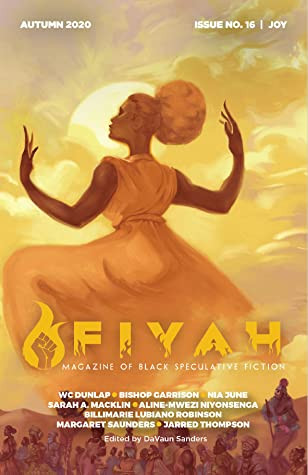 a woman in a long sleeveless dress and an afro puff stands in front of the sun, lifting her hands as though conducting musichairstyle