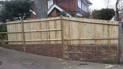 Featheredge fence on the wall
