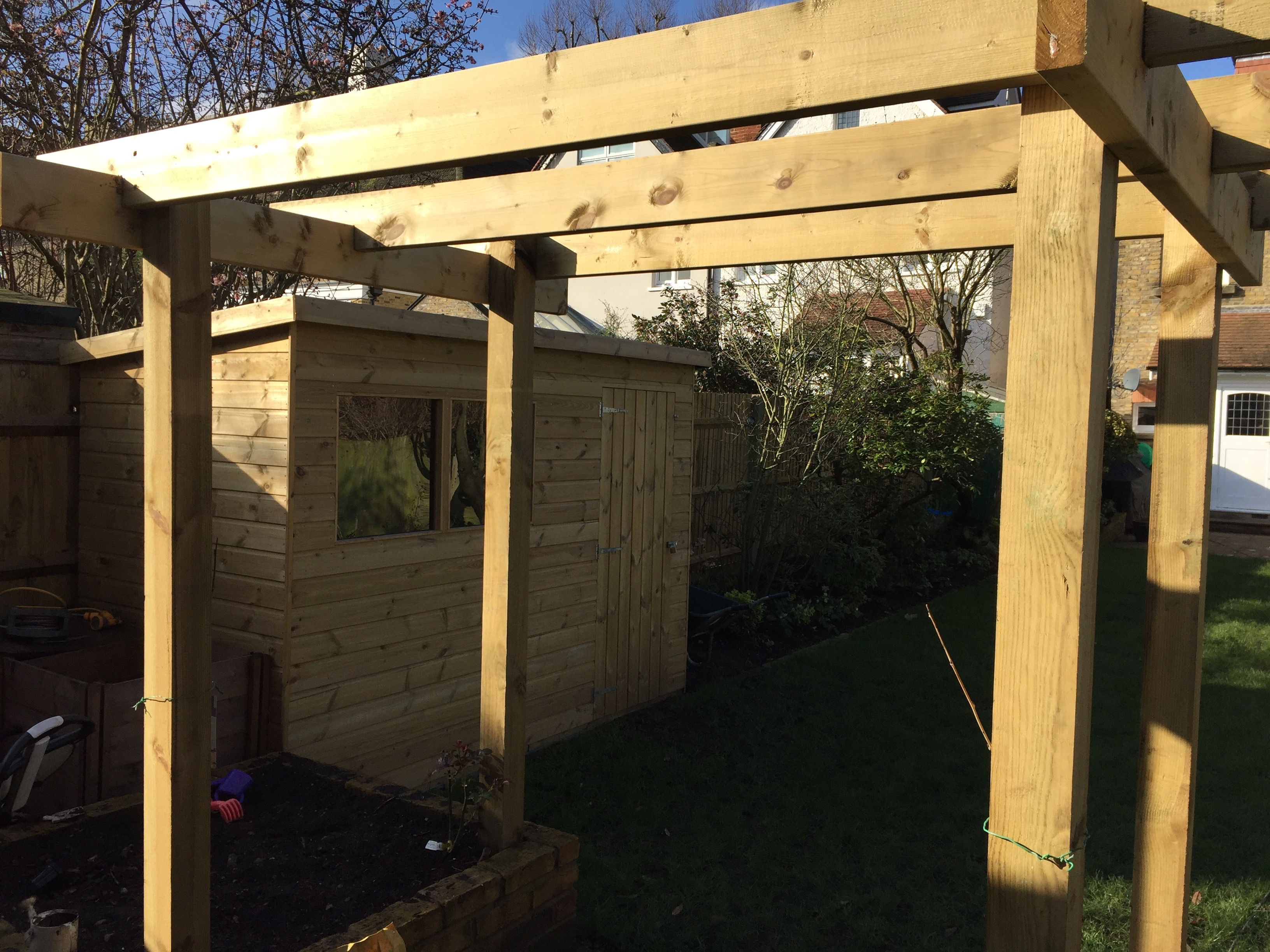 Pergola & garden shed ( soft wood )