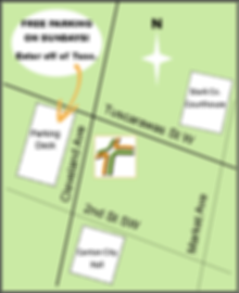 simplified map of area surrounding Crossroads UMC in Canton Ohio