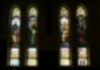 The McKinley memorial stained glass windows at Crossroads UMC in Canton Ohio