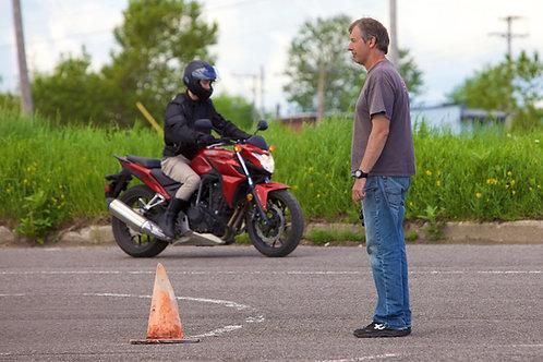Location de moto pour examen SAAQ en circuit fermé