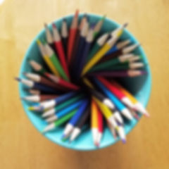 organized pencils