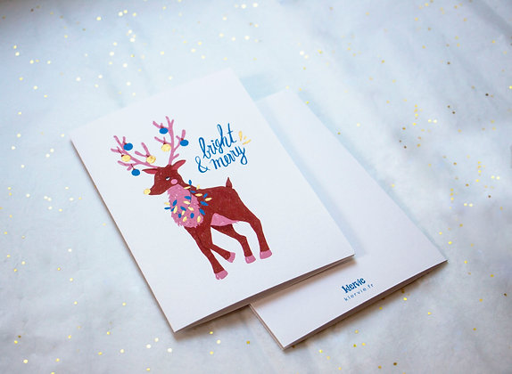 Bright & merry card