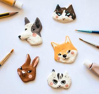 Animal clay pin