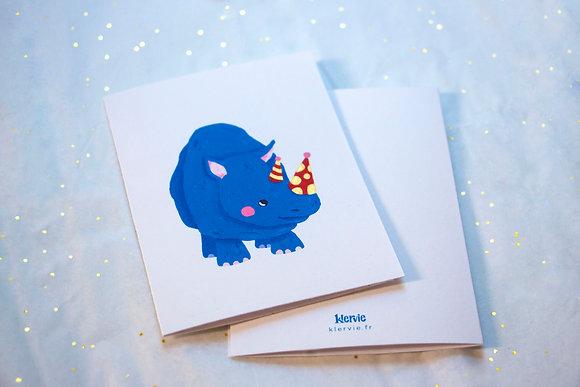 Party rhino card