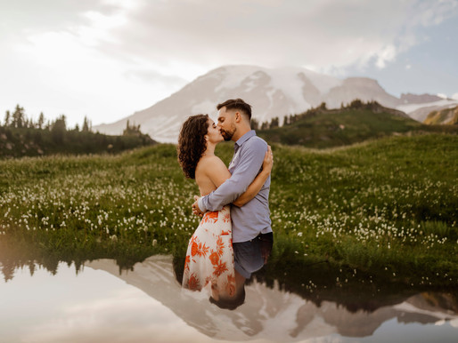 Leah & Ben - Mount Rainier Whimsical Engagement