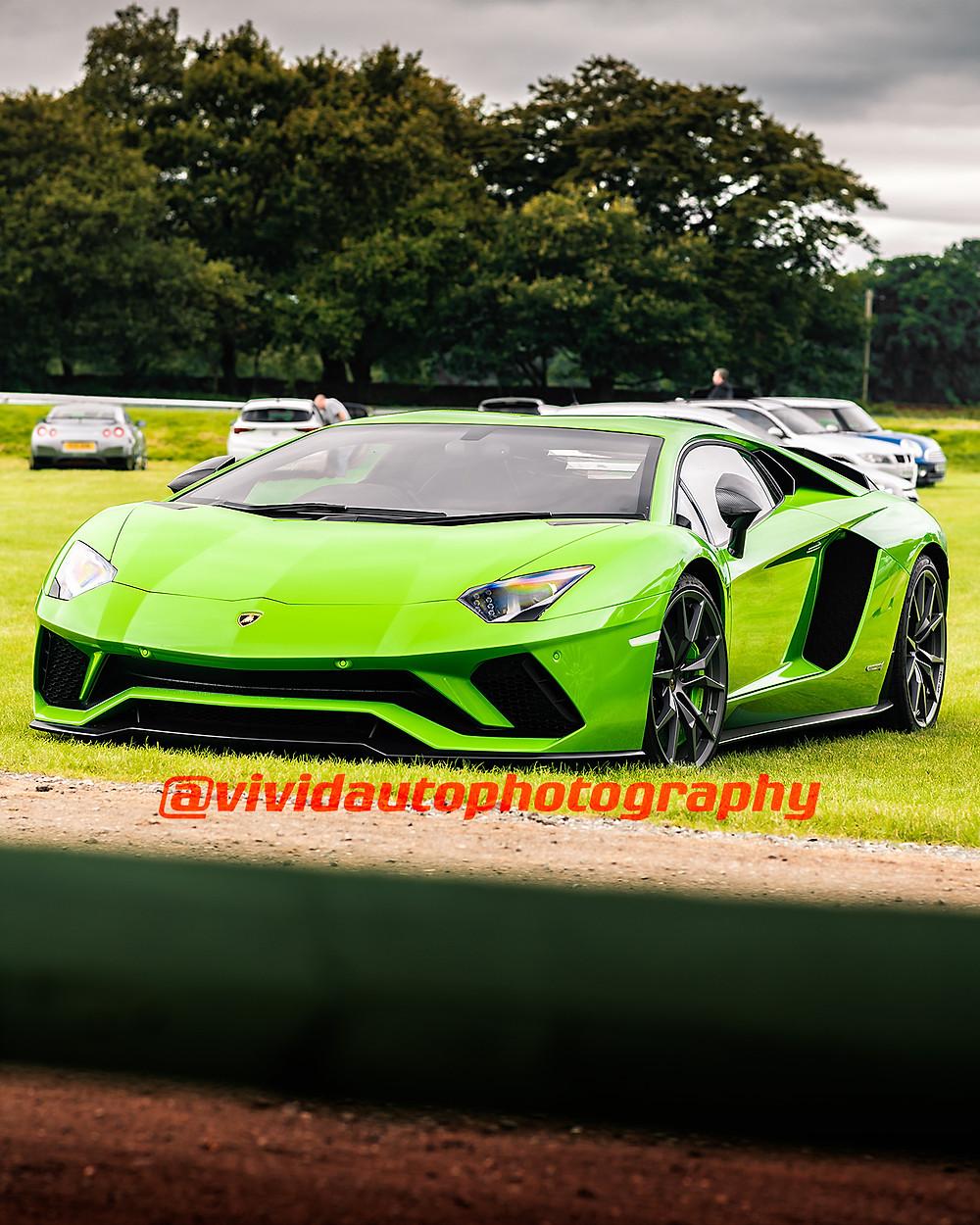 Lamborghini Avantador S | Verde Mantis | Front three quarters poster