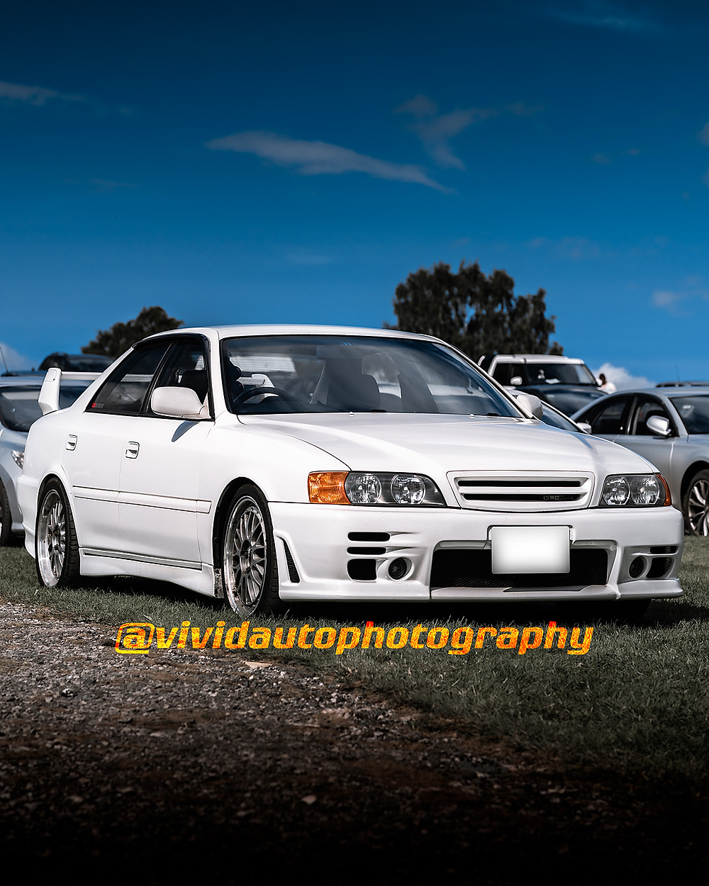 Toyota Chaser Tourer TRD | White | Front three quarters poster