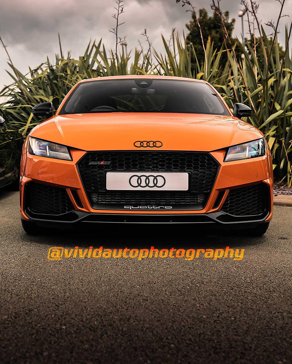 Audi TTRS MK3 | Pulse Orange | Front three quarter poster
