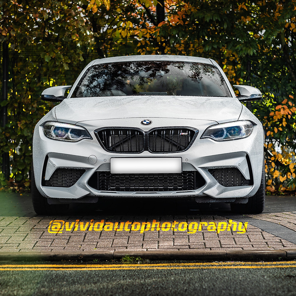 BMW M2 Competition | Hockenheim Silver | Front poster