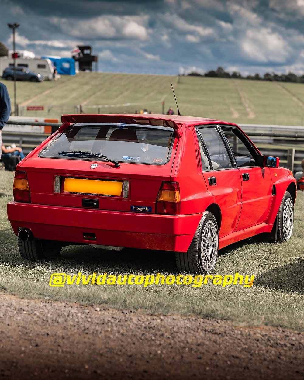 Lancia Delta HF Integrale EVO | Monza Red | Rear three quarters poster