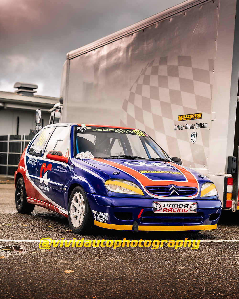 Oliver Cottham | Citroen Saxo | Front three quarters poster