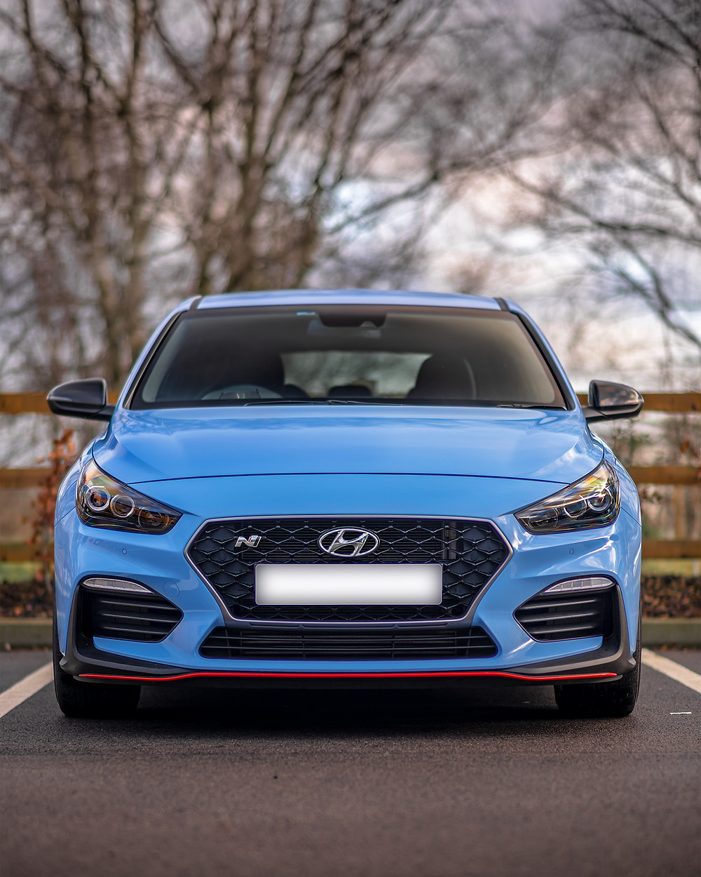 Hyundai i30N Performance front face poster
