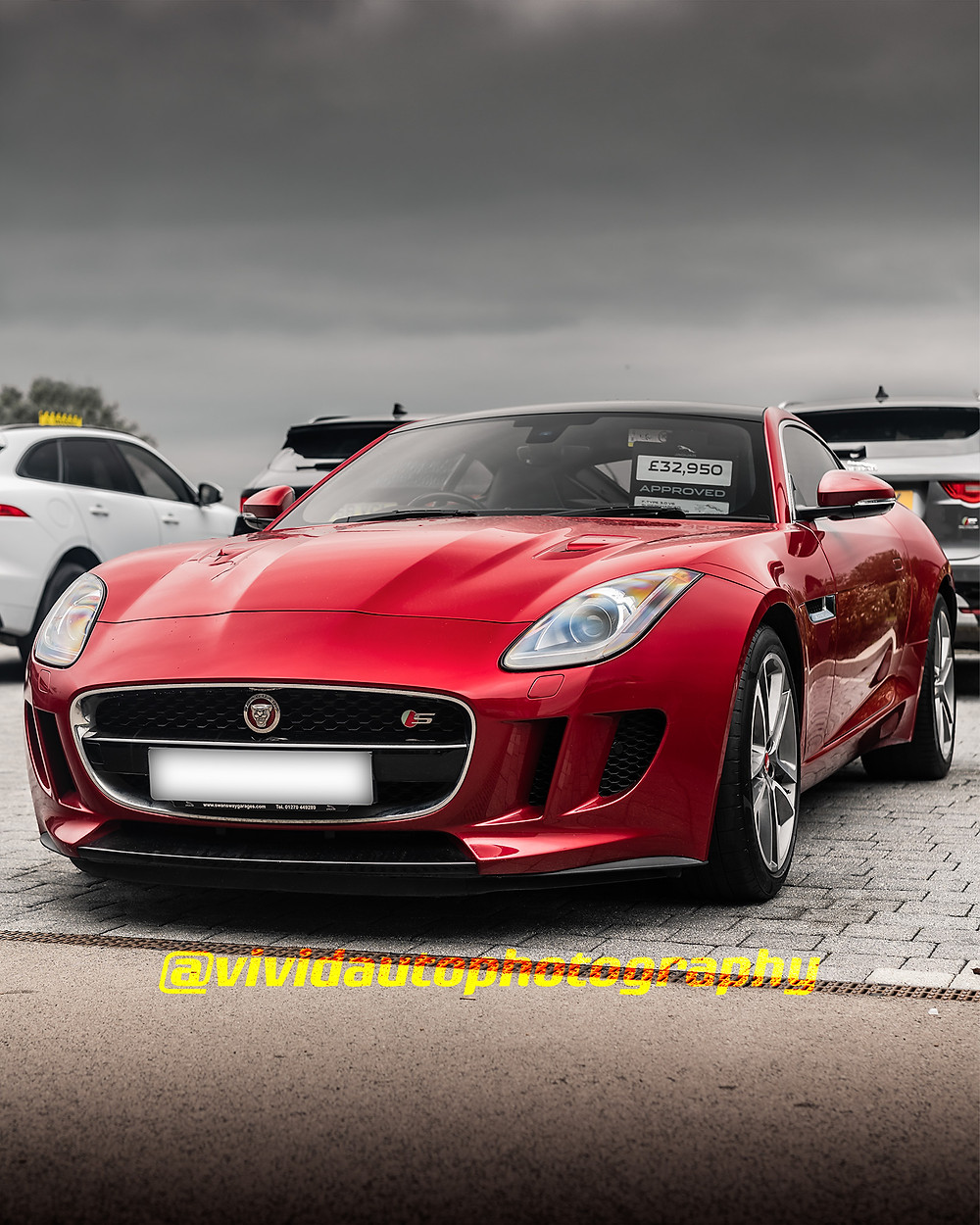 Jaguar F-Type Coupe S | Italian Red | Front three quarters poster