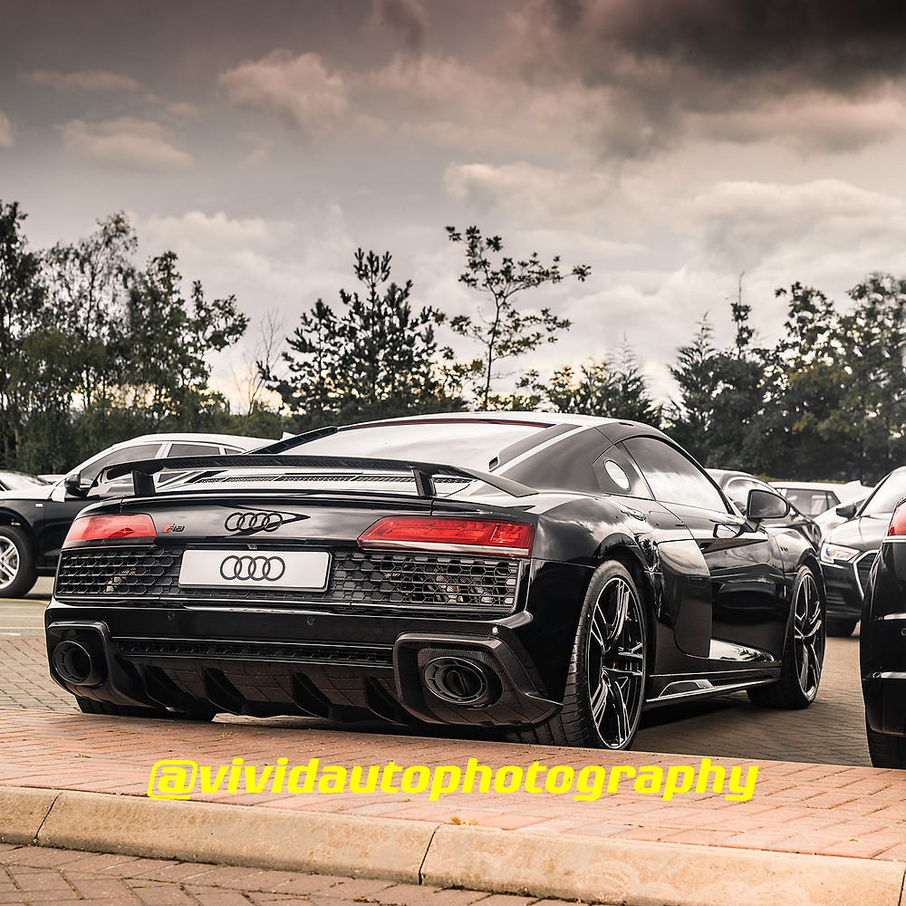 Audi R8 V10 Performance | Mythos Black | Rear three quarter