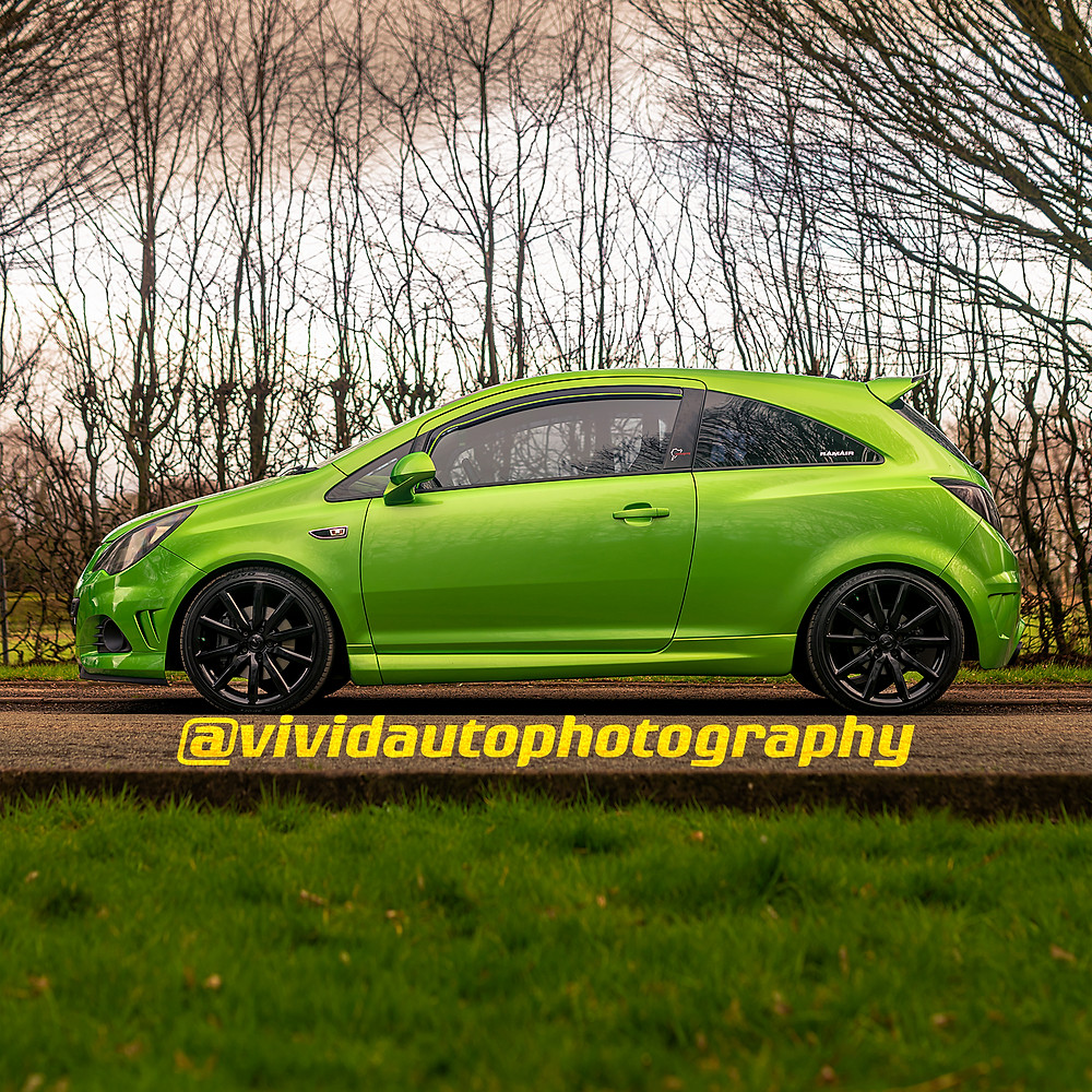 Vauxhall Corsa VXR Nurburgring Edition Side profile Crewe Hall