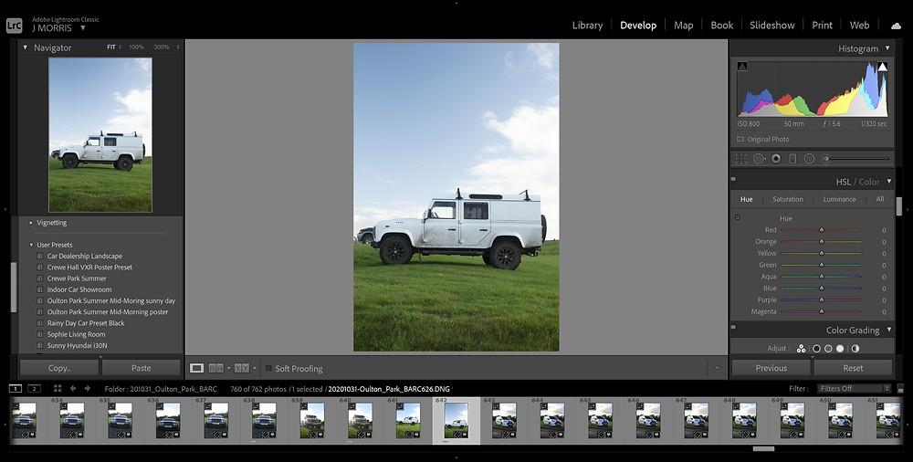 Land Rover Deffender 130 | Adobe Lightroom