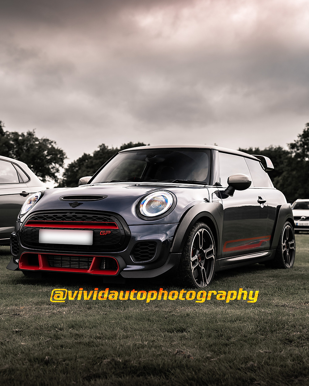 Mini Cooper JCW GP3 | Racing Grey/Chilli Red | Front three quarters | Oulton Park