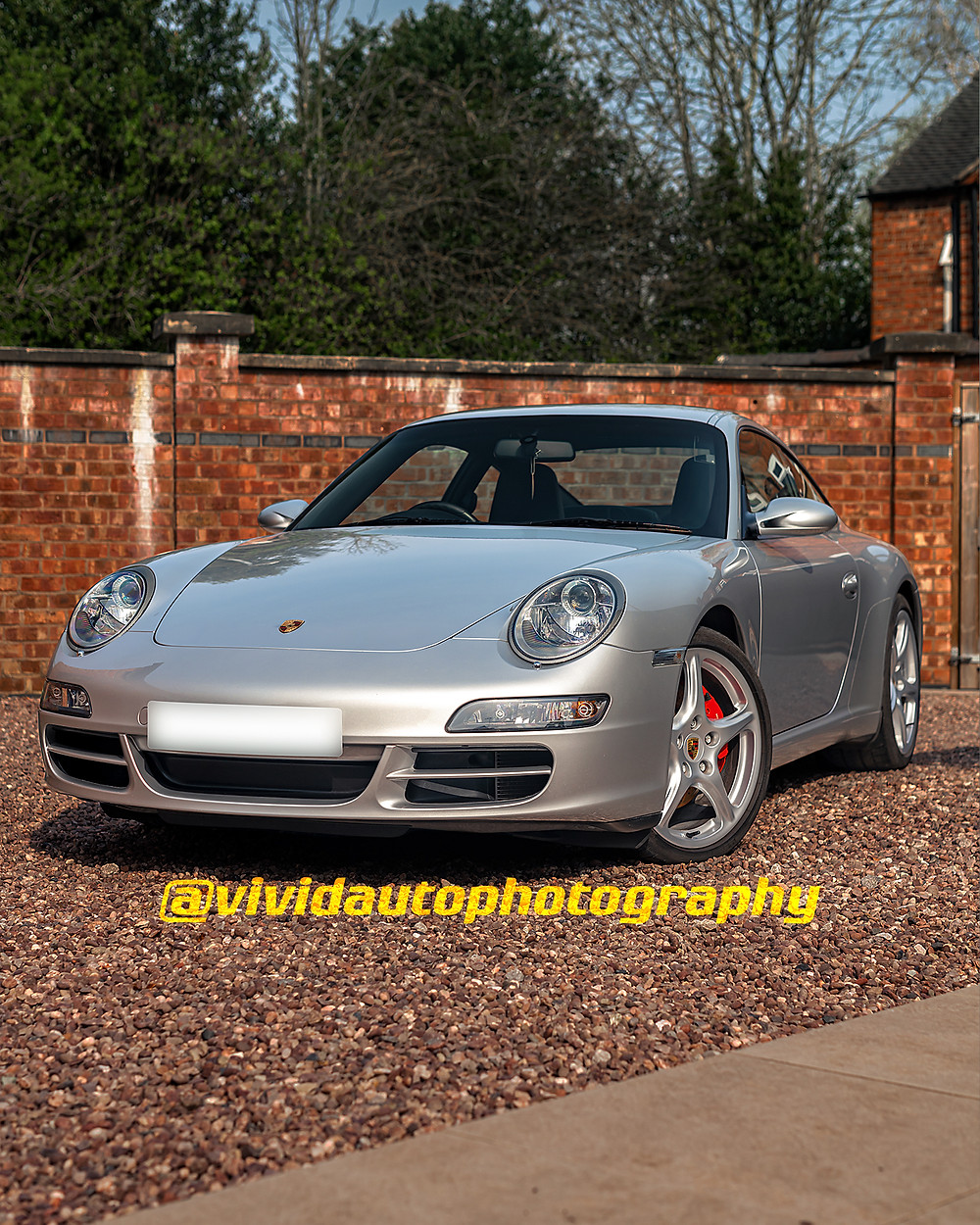 Porsche 911 Carrera S (997) front three quarters poster