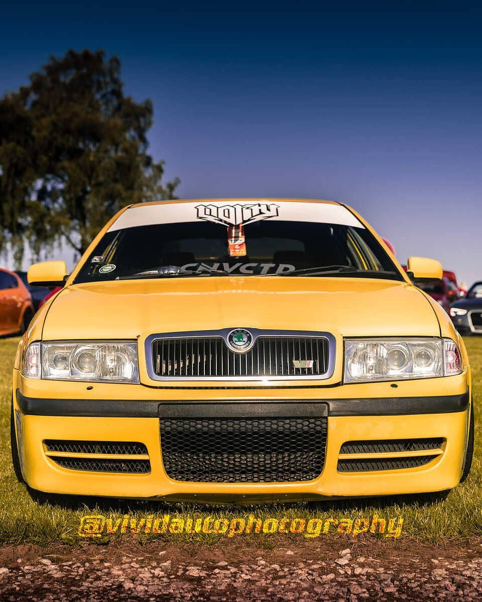 Skoda Octavia VRS | Lemon Yellow | North Staffs Customs Car Club