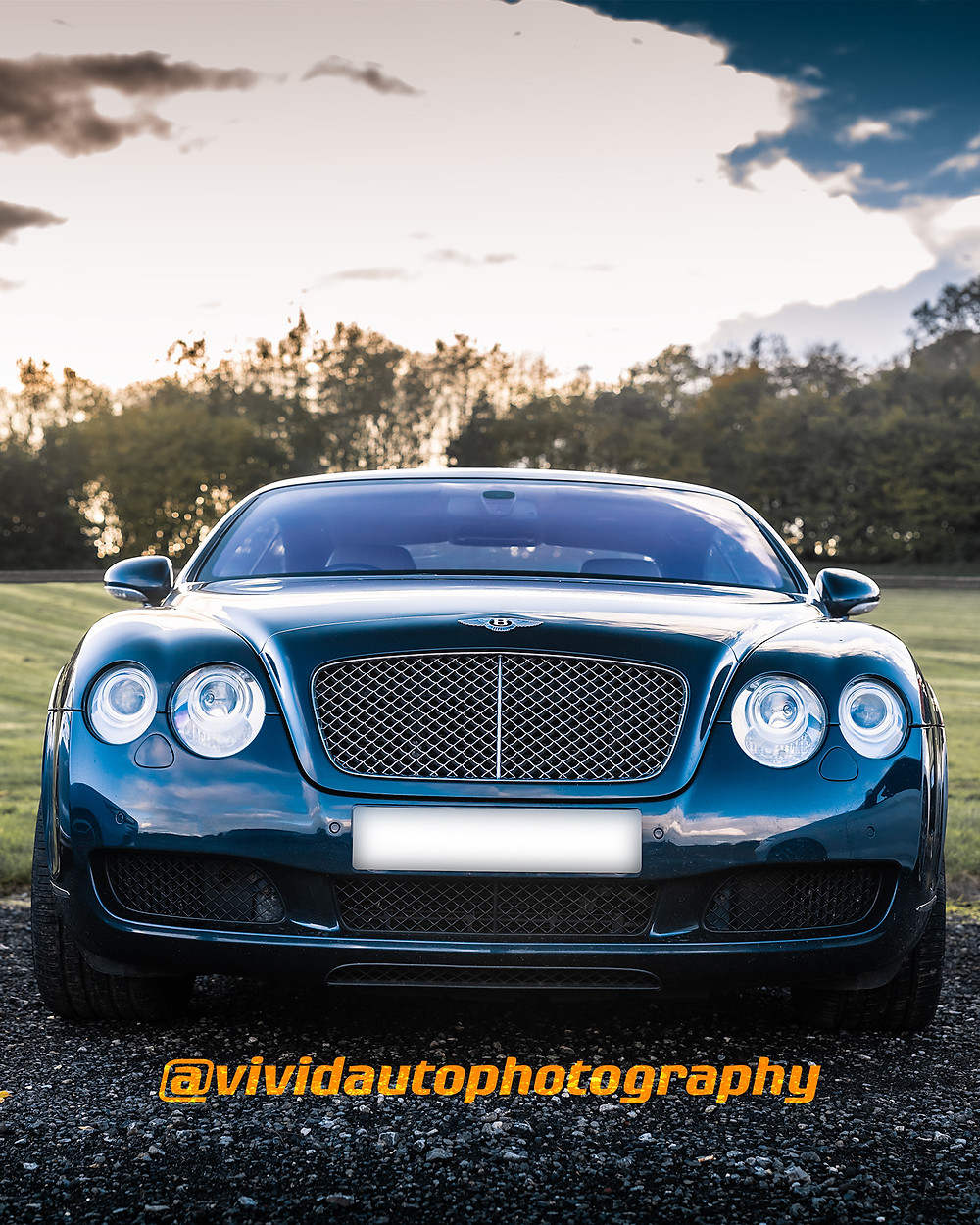 Bentley Continental GT | Dark Blue Metallic | Front poster