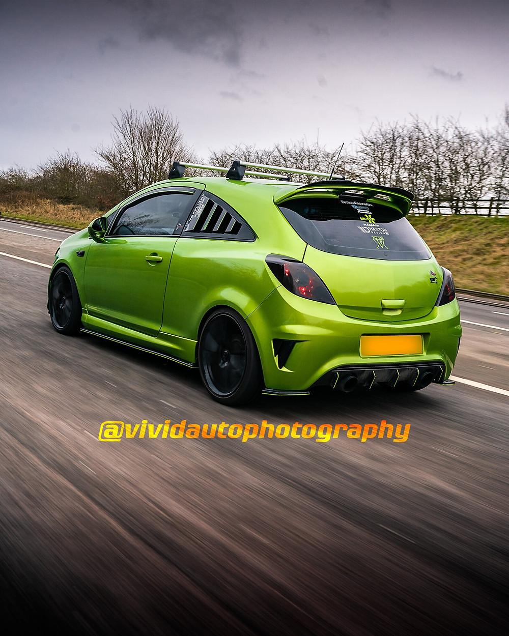 Vauxhall Corsa VXR Nurburgring | Lime Rock | Rear three quarter