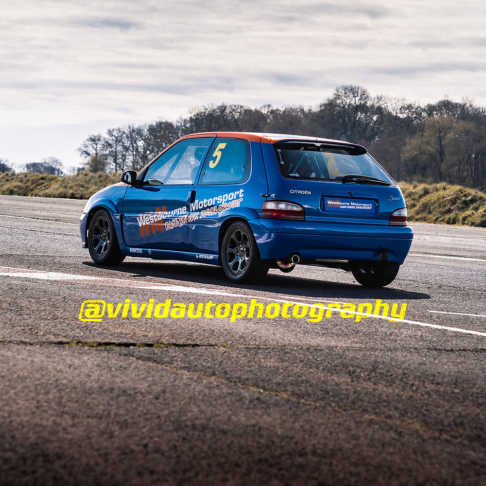 Citroen Saxo | Westbourne Motorsport | Rear three quarter square