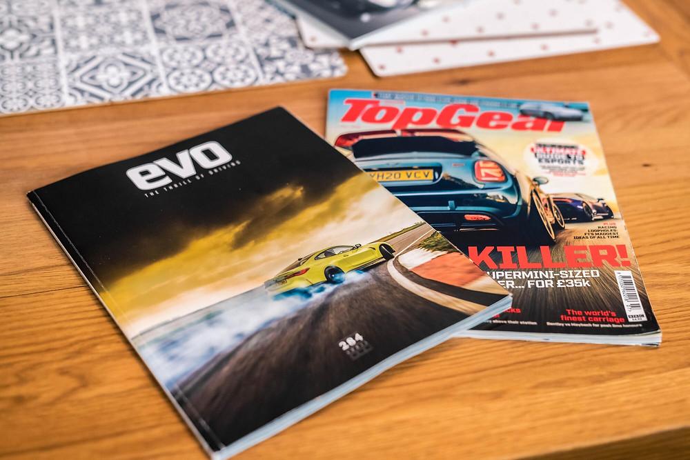 Top Gear and EVO Magazine