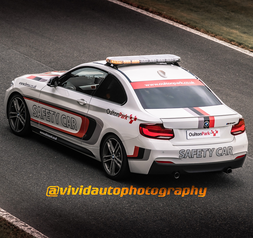 BMW M240i Safety Car | Oulton Park | Rear three quarter