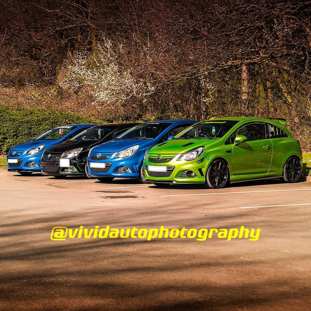 Vauxhall Corsa x4   Group Photoshoot