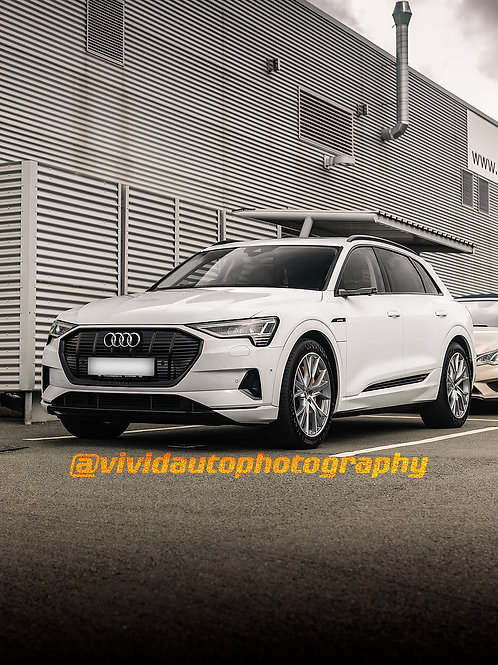 Audi E-Tron | White | Front Three quarters