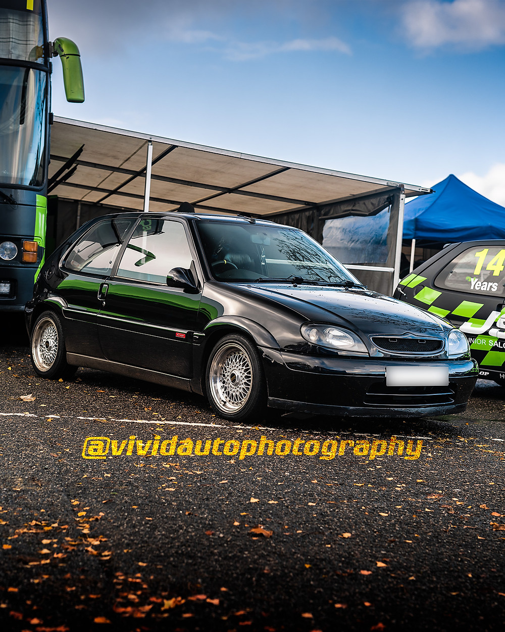 Citroen Saxo Cup | Black | Front three quarters poster