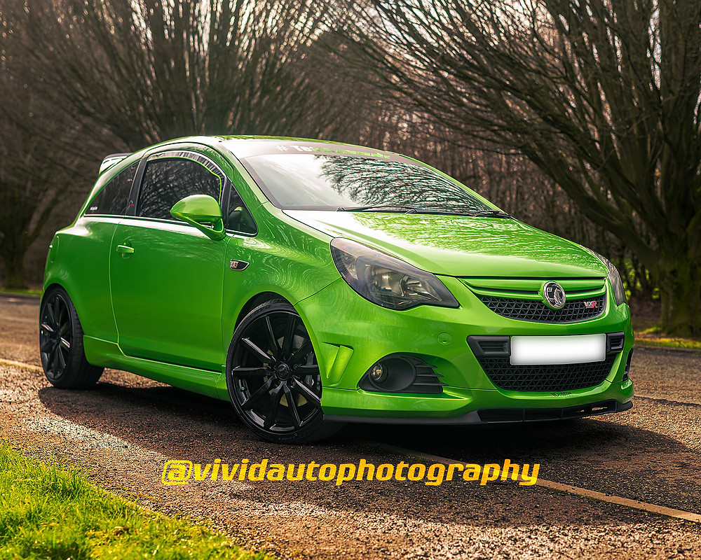 Vauxhall Corsa VXR Nurburgring Edition front three quarters Crewe Hall