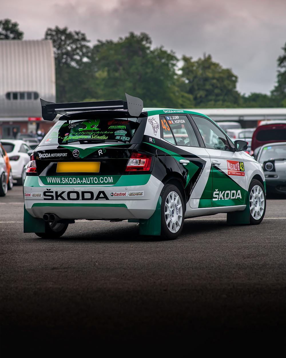 Skoda Fabia R5 rear three quarters