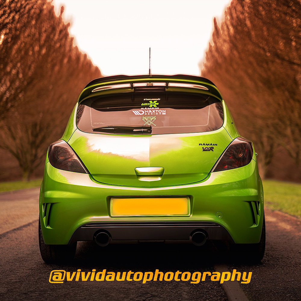 Vauxhall Corsa VXR Nurburgring Edition rear Crewe Hall