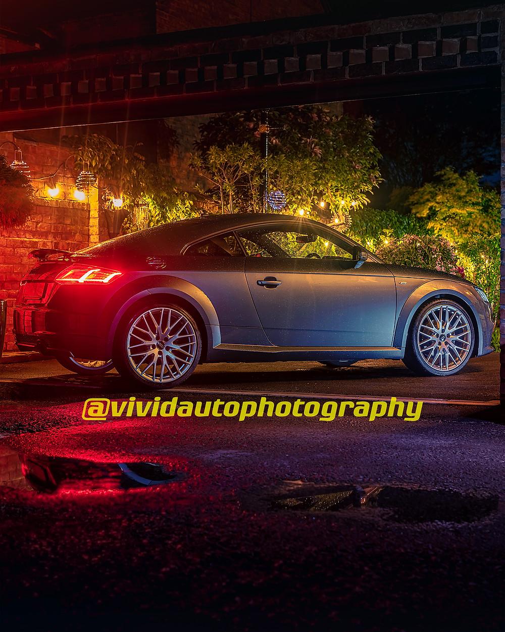 Audi TTS Coupe Side profile - Blue Hour