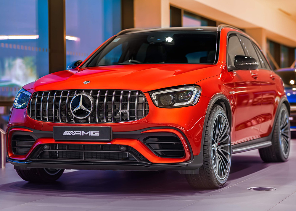 Mercedes AMG GLE63S Coupe   Metallic Red   Front three quarters