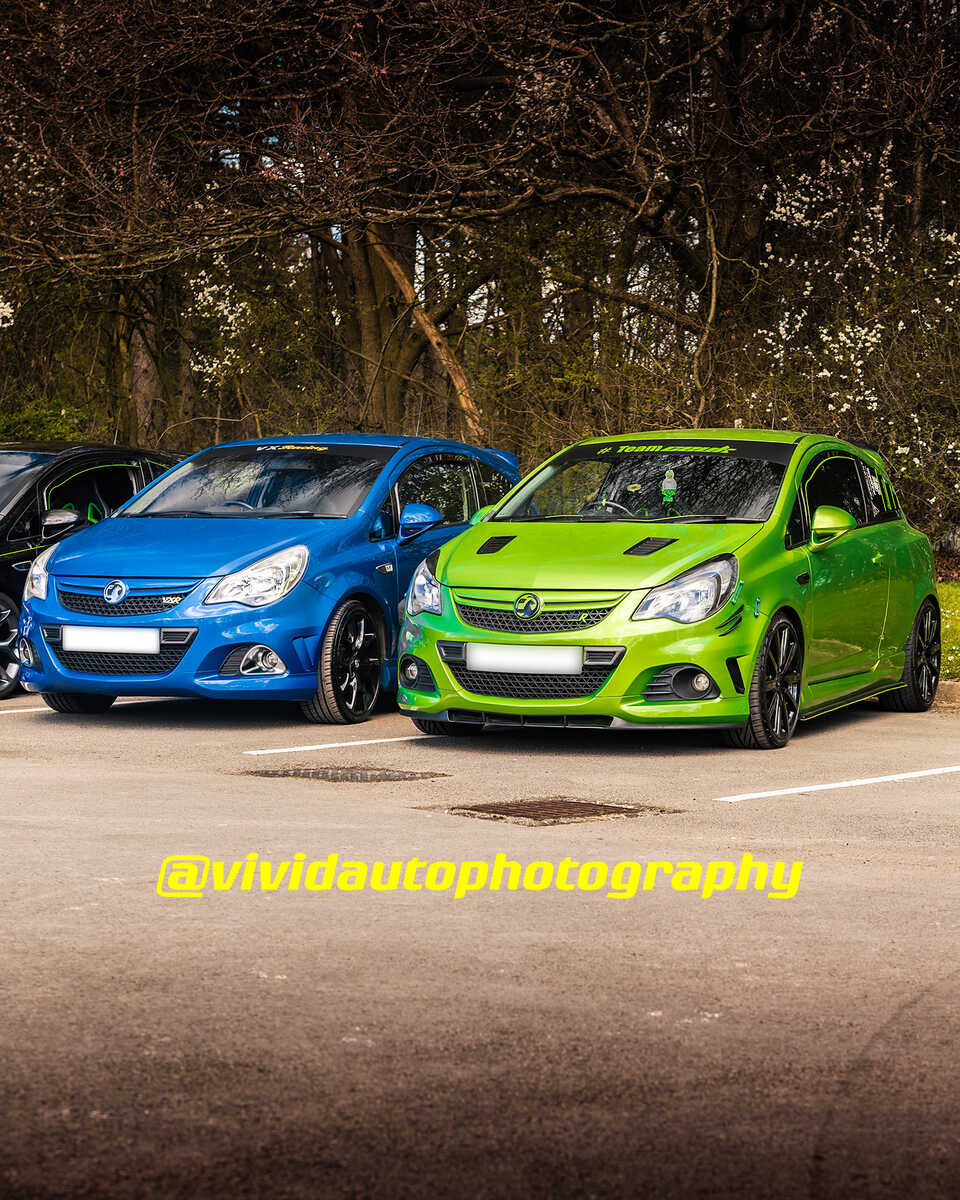 Vauxhall Corsa VXR *2 | Arden Blue and Lime Green | Front three quarter poster