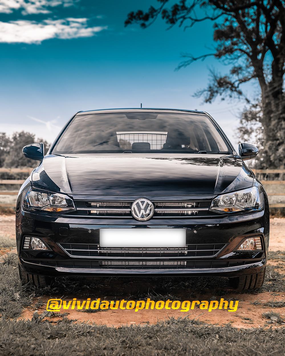 Volkswagen Polo TSi | Black | Front poster