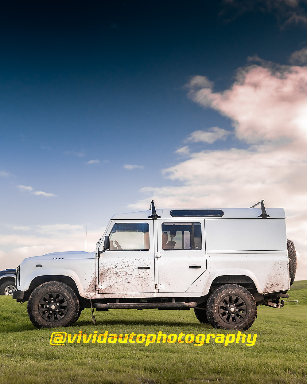 Land Rover Defender 130 | White | Side profile poster