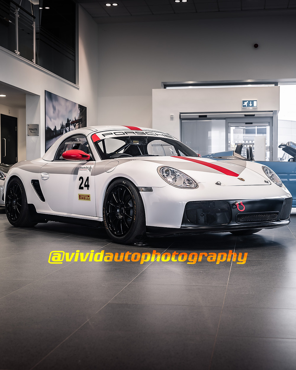 Porsche 987 Boxster | White | Front three quarter poster