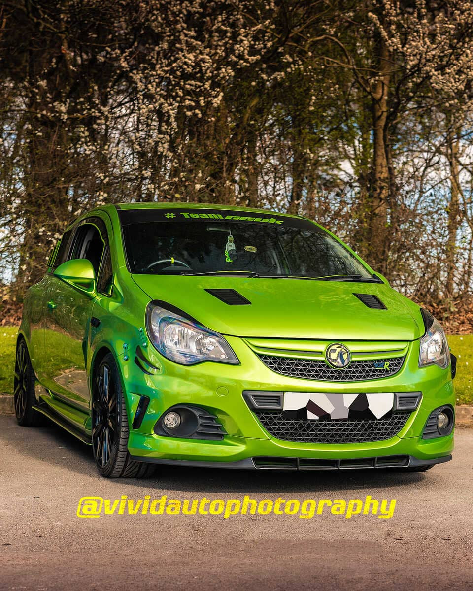Vauxhall Corsa VXR Nurburgring Edition | Lime Green | Front three quarter poster