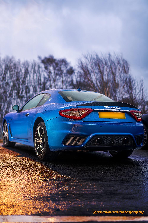 Maserati GranTurismo rear three quarters | Rain