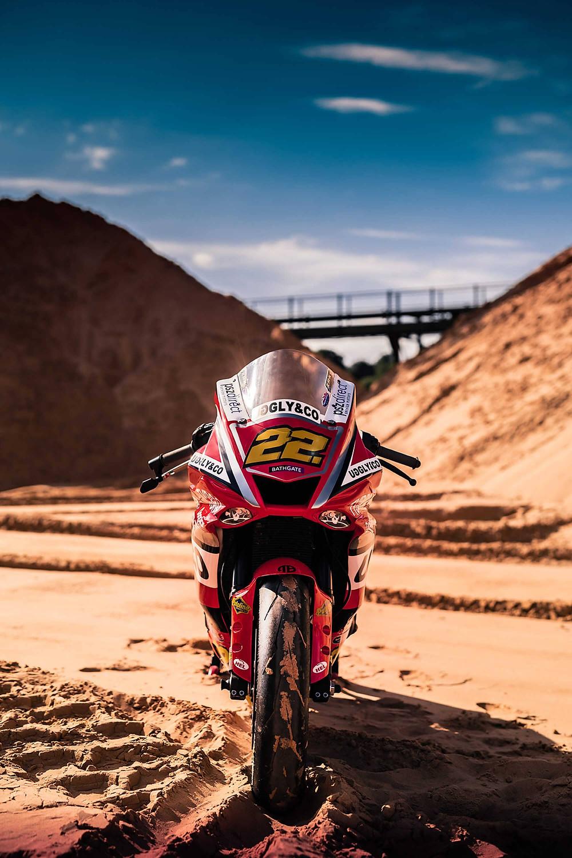 Yamaha R1 | Sand Dunes | Front Poster