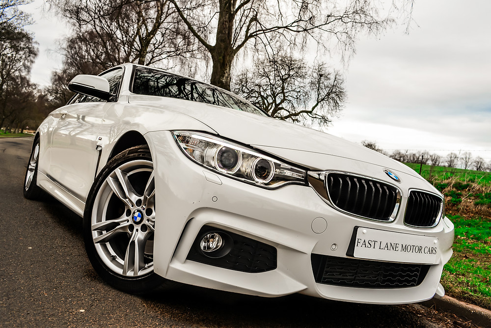 BMW 428i Coupe front three quarters